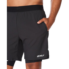 "2XU Aero 2in1 7"" Shorts Men, black/silver reflective"